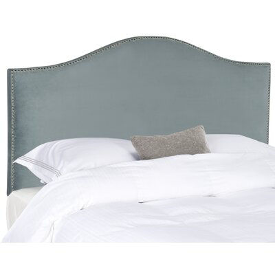Rumford Upholstered Panel Headboard Size: Queen, Color: Sky Blue, Upholstery: Polyester