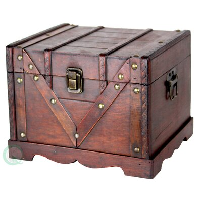 Decorative Treasure Chest in Antique Cherry