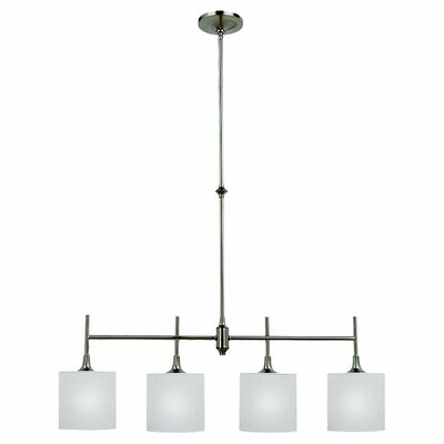 Foland 4-Light Kitchen Island Pendant Finish: Brushed Nickel