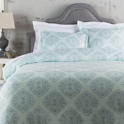 Rossendale Duvet Cover Color: Blue, Size: Twin