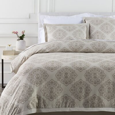 Plymouth Duvet Set Size: Twin, Color: Neutral