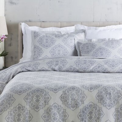 Plymouth Duvet Set Size: King, Color: Gray