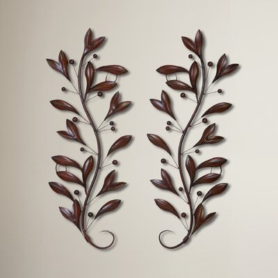 2 Piece Metal Floral Wall Décor Set