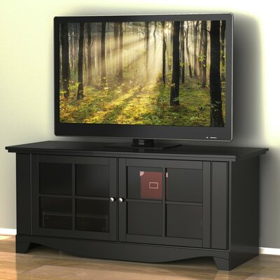 Griffen 56'' TV Stand Glass Color: Clear Glass
