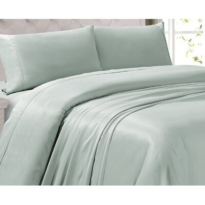 Oliver 300 Thread Count 4 Piece Sheet Set Color: Ice Flow, Size: Queen
