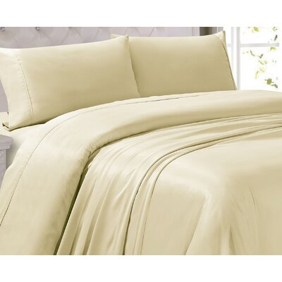 Oliver 300 Thread Count 4 Piece Sheet Set Color: Ivory, Size: Twin