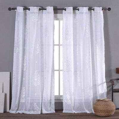 Alcott Hill Oliver Grommet Curtain Panels