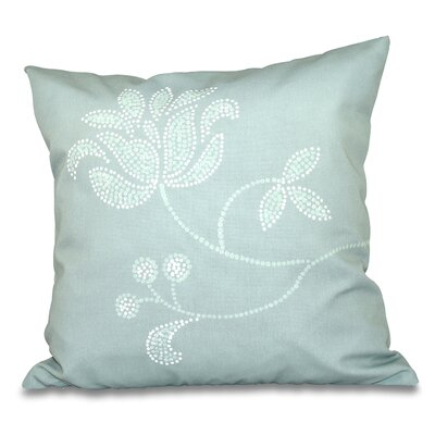 Orchard Lane Flower Bloom Print Throw Pillow Size: 18 H x 18 W, Color: Green