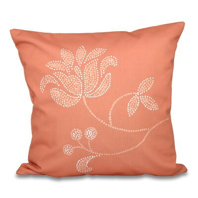 Orchard Lane Flower Bloom Print Throw Pillow Size: 26 H x 26 W, Color: Coral