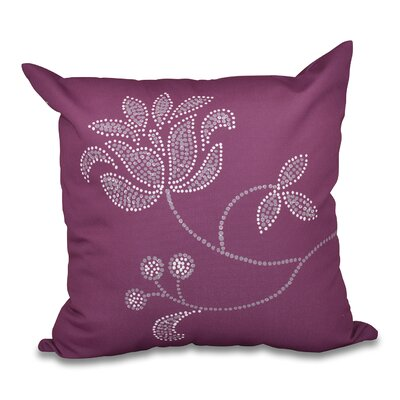 Orchard Lane Flower Bloom Print Throw Pillow Size: 16 H x 16 W, Color: Purple
