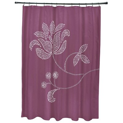 Maniteau Floral Bloom Print Shower Curtain Color: Purple