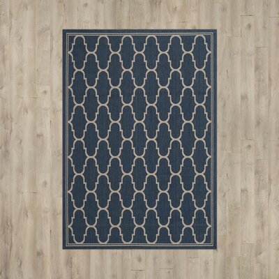 Rockbridge Navy/Beige Indoor/Outdoor Area Rug Rug Size: Rectangle 53 x 77