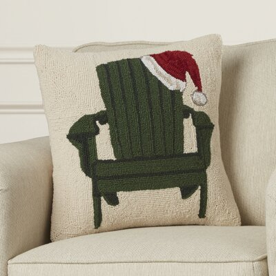 Inglewood Chair with Santa Hat Hook Wool Throw Pillow
