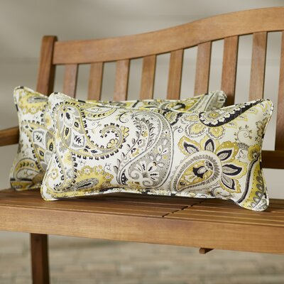 Creevamoy Indoor/Outdoor Lumbar Pillow Set Size: 12x24