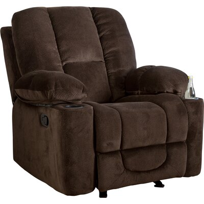 Eastlake Gliding Recliner Upholstery: Chocolate