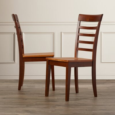Craigy Hall Solid Wood Dining Chair (Set of 2) Finish: Fruitwood