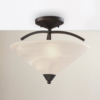 Brookhurst 2-Light Semi Flush Mount