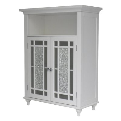 Caleb 2 Door Floor Cabinet Finish: White