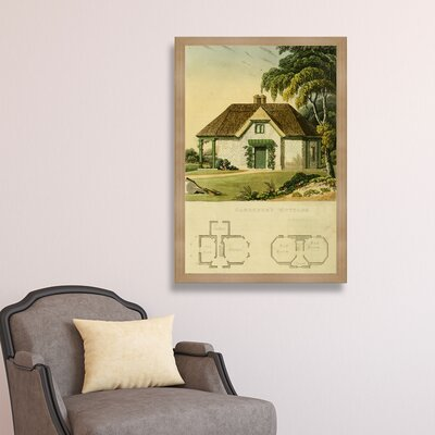 Gardeners Cottage Framed Painting Print