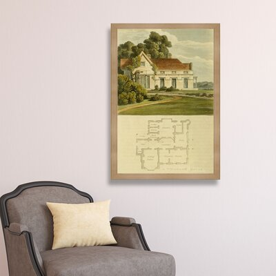 Vicarage House Framed Painting Print