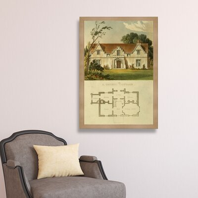 Gothic Cottage Framed Painting Print