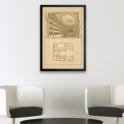 Teatro Della Percola Interno Framed Graphic Art Size: 24