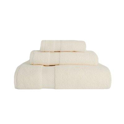 3 Piece Towel Set Color: Ivory