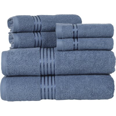 Hotel 6 Piece Towel Set Color: Blue