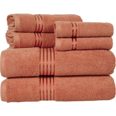 Parris 6 Piece Towel Set Color: Brick