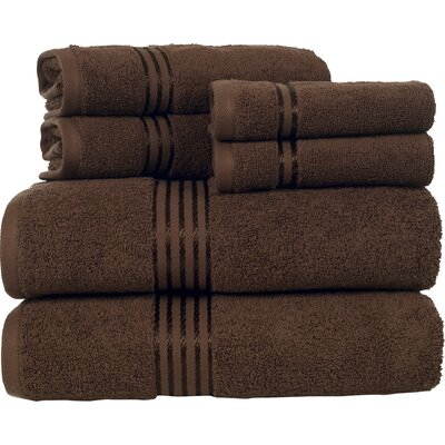 Hotel 6 Piece Towel Set Color: Chocolate