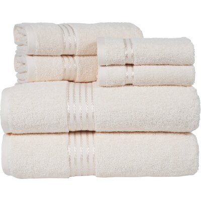 Hotel 6 Piece Towel Set Color: Ivory