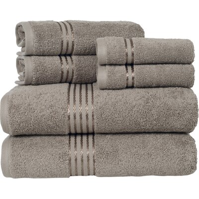 Parris 6 Piece Towel Set Color: Taupe