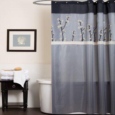 Oak Lane Shower Curtain Color: Gray/Black