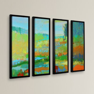 Southern View II 4 Piece Framed Painting Print Set Size: 24