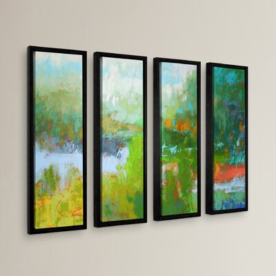 Southern Charm 4 Piece Framed Painting Print Set Size: 24