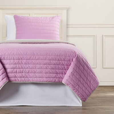 Lynnhaven 2 Piece Quilt Set Color: Lavender
