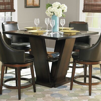 Allenville Counter Height Dining Table Tabletop Size: 36 H x 47.5 W x 47.5  D