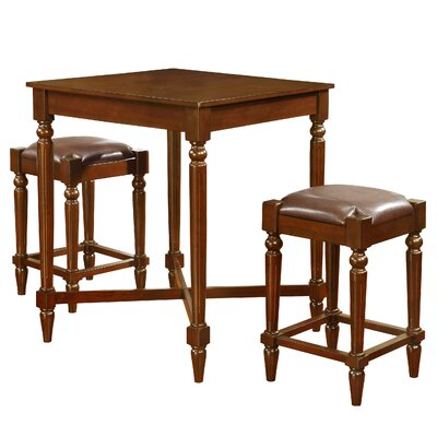 Alcott Hill Churchill 3 Piece Pub Table Set