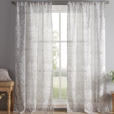 Oliver Curtain Panels Color: Taupe