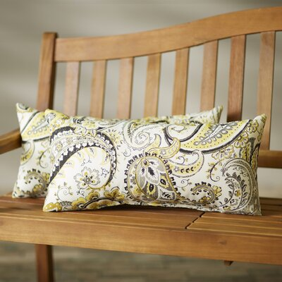 Frosses Paisley Floral Indoor/Outdoor Throw Pillow Size: 12 H x 24 W x 5 D