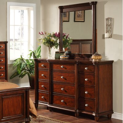 Bancroft Woods 12 Drawer Dresser with Mirror