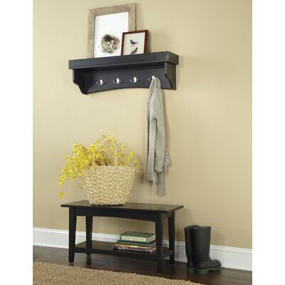 Bel Air -Piece Hall Tree Coat Hook and Bench Set