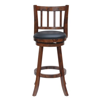 Hardcastle 24 Swivel Bar Stool Finish: Walnut