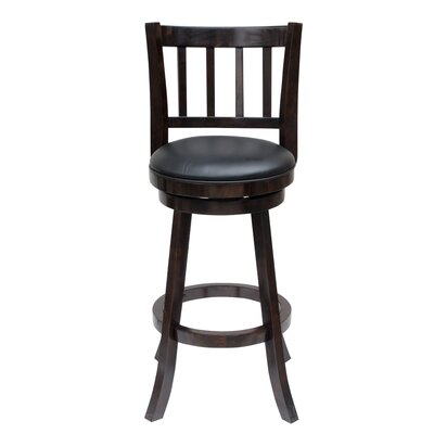 Hardcastle 24 Swivel Bar Stool Finish: Cappuccino