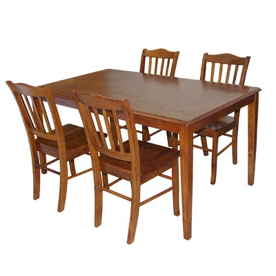 Windham 5 Piece Dining Set Finish: Walnut