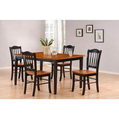 Windham 5 Piece Dining Set Finish: Black and Oak