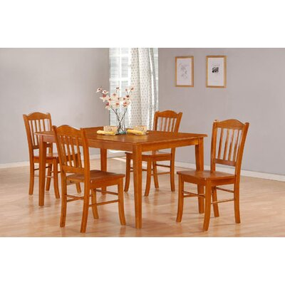 Windham 5 Piece Dining Set Finish: Oak
