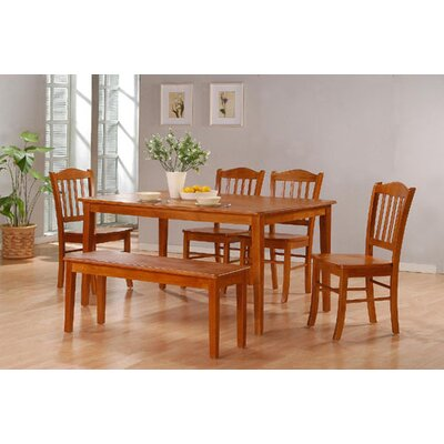 Windham 6 Piece Dining Set Finish: Oak