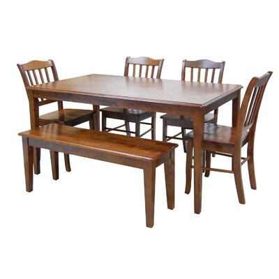 Windham 6 Piece Dining Set Finish: Walnut