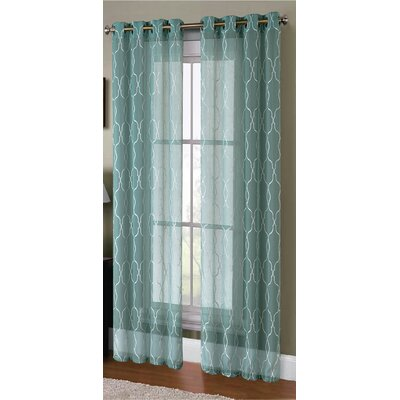 Knollwood Boho Embroided Sheer Curtain Panels